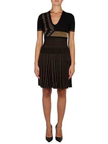 Versace Collection Damen G35803g604199g4207 Schwarz/Gold Viskose Kleid