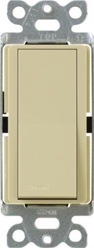15 Amp Single Pole (Lutron CA-1PSNL-IV Diva 15-Amp Single Pole Switch with Locator Light, Ivory by Lutron)