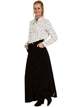 USKEES FEARNE Falda larga de pana Negro maxi falda FEARNECORDBLK