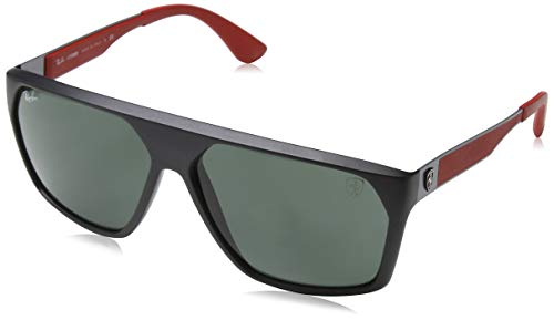 Ray-Ban Junior Herren 0RB4309M F60271 61 Sonnenbrille, Matte Black/Green
