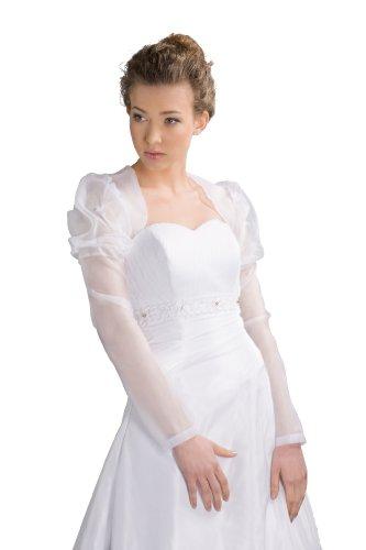 Sposa Giacca da E-108 dimensioni Organze bianche o panna S-XL/36-42 bridal-Paulick bianco