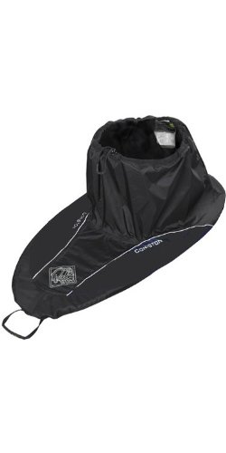 Palm Kajak oder Kajakfahren - Coniston Touring Spray Deck in Schwarz mit blauem Logo - genäht und mit Hitze verklebte Nähte