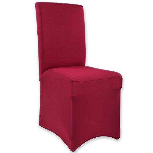 Gräfenstayn Fodera elasticizzata per sedia Henry - in diversi colori per schienali tondi e quadrati in versione bielastica con certificazione Oeko-Tex Standard 100:'Tested trust' (Bordeaux)