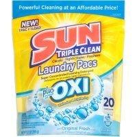 Sun Original Fresh Laundry Pacs plus Oxi (Case of 6)