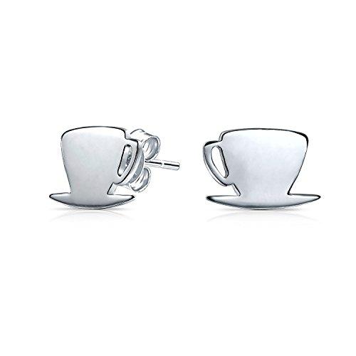 Winzige Essen Latte Espresso Cafe Kaffee Liebhaber Ohrstecker Für Damen Für Jugendlich 925 Sterling Silber