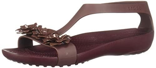 crocs Damen Serena Embellish Sandal W Clogs, Rot (Gunmetal/Black), 39 EU