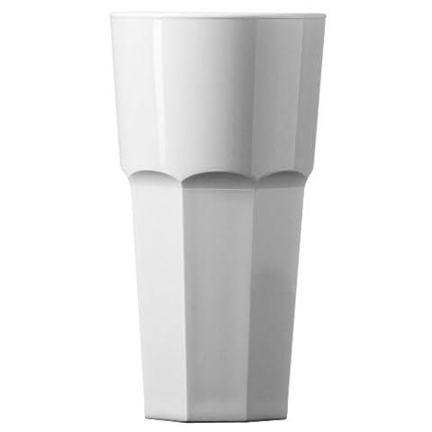 Elite Peut-elle en polycarbonate Pinte gobelets Blanc CE 567gram/568ml–Lot de 4–Verres à pinte en plastique Blanc