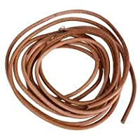 Leather Treadle Belt for Sewing Machine with Metal Hook for Usha, Singer, Merit, Brown, 183cm