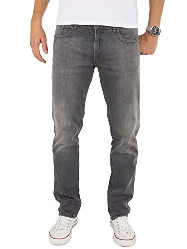 Yazubi Herren Jeans Akon Slim - Jeans Hosen für Männer - Schwarze Vintage Denim Stretch Hose Jeanshose Regular, Grau (Tornado 183907), W29/L30