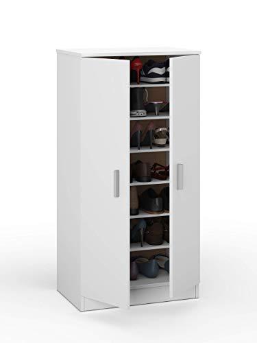 Esidra scarpiera mobiletto portascarpe, legno, bianco, 108 x 55 x 36
