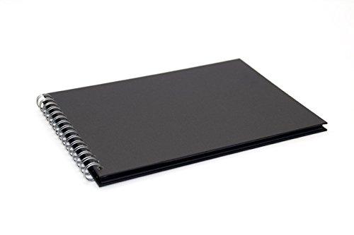 Pink Pig formato apaisado bloc de notas A4 negro papel reciclado, 20 hojas