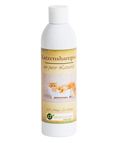 LT-Naturprodukte Katzenshampoo Bio vegan, Chemie- und seifenfrei, hypoallergen, gegen Juckreiz, 250ml, mit original marokkanischer Lavaerde, PUR