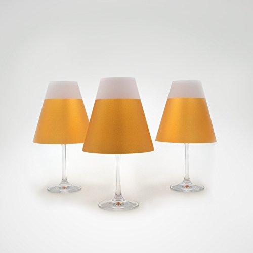 POETRY LIGHT · Goldene Lampenschirme für Weingläser mit Teelicht · aus Transparentpapier zum...