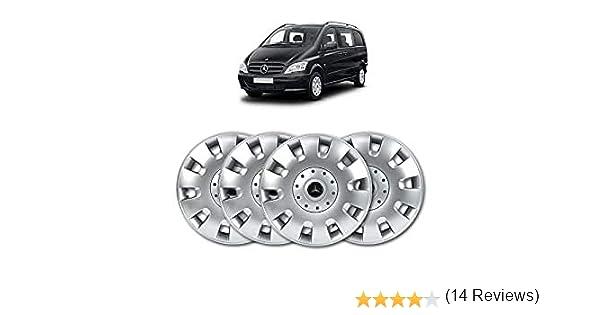 argent/é Ensemble denjoliveurs de roue en ABS massif 40,6/cm ou 16/pouces lot de 4
