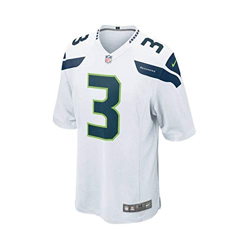 best authentic 5d44c 85af7 Nike Seattle Seahawks Russell Wilson American Football Game Jersey Bianco,  XXL