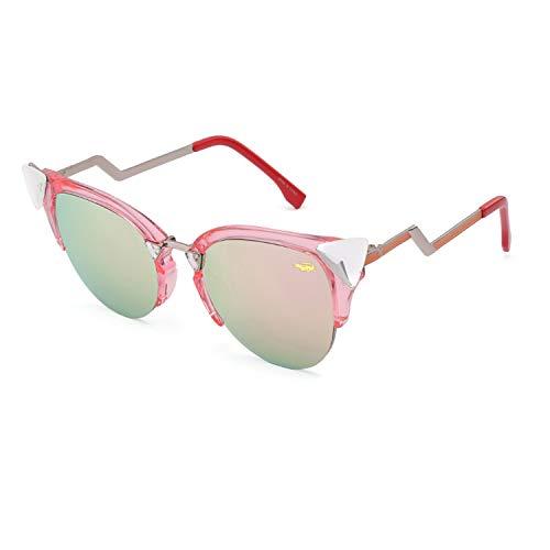 Brillen,Sonnenbrillen,Zubehör,New Fashion Cat Eye Sunglasses Women White Frame Gradient Sun Glasses Driving UV400 Fashion Eyewear Box 97006 Pink