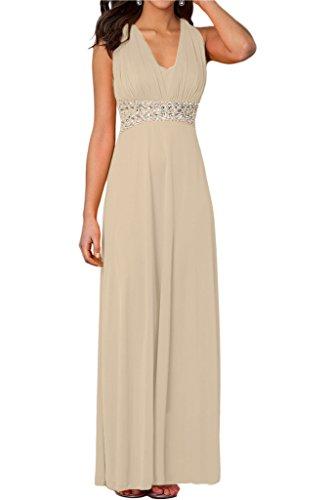 ivyd ressing Femme Elegant V pierres de la découpe rueckfrei Lave-vaisselle robe Prom robe robe du soir - Sauge