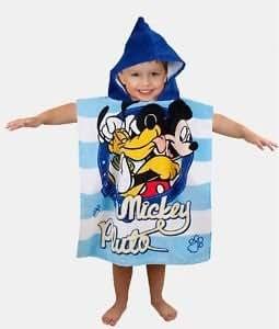 DISNEY MICKEY MOUSE & PLUTO PONCHO/TOWEL