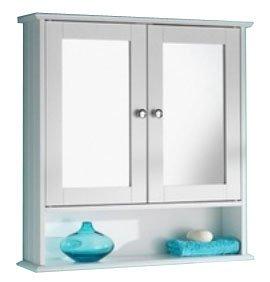 Unbekannt Weißer Badezimmer-Spiegelschrank mit stilvollem Design von Home Living