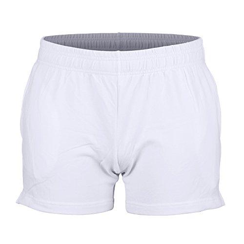 Musclealive Herren Fitnessstudio Bodybuilding Trainieren Kurze Hose Baumwolle Men Shorts Style B White, 3 inseam Thick Fabric With Pockets