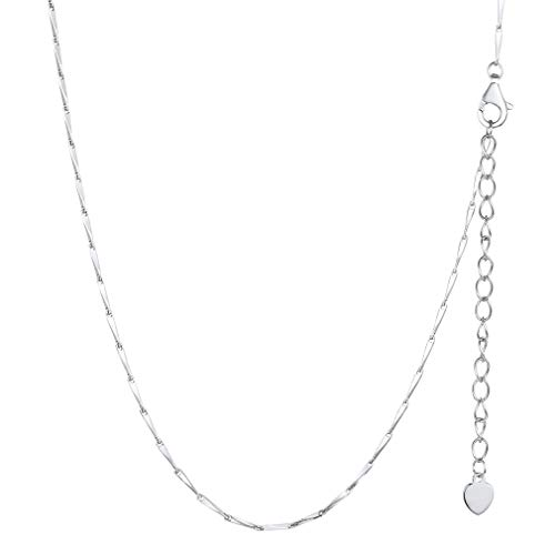 1c00024cf81a PROSILVER Collier Chaîne Fine Femme Argent 925 - Maille 1mm Sterling Silver  Link Chain Necklace 55cm