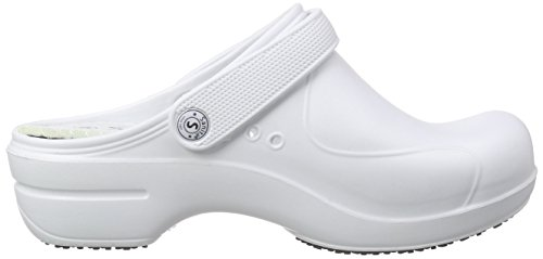 Sanita Aero-Stride, Zoccoli Donna Bianco (Weiß (White 1))