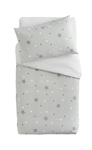 poyetmotte Gray Plus Sterne Quilt Cover w/Kissen Fall -