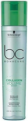 Schwarzkopf Professional Bc Collagen Volume Boost Micellar Shampoo, Green, 250 ml