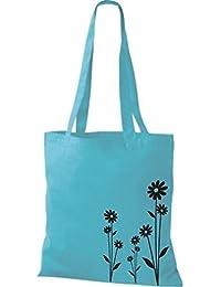 ShirtInStyle Stoffbeutel Flower Ornament Blume Baumwolltasche Beutel, diverse Farbe