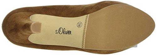 s.Oliver 22400, Scarpe con Plateau Donna Marrone (COGNAC 305)
