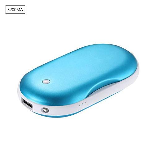 Preisvergleich Produktbild Handwärmer USB,  Wiederaufladbare Powerbank Große Kapazität und doppelseitige Heizung für Mädchen,  Männer,  Externe Backup Ladegerät Akku für Smartphones,  2400mAh / 5200mAh