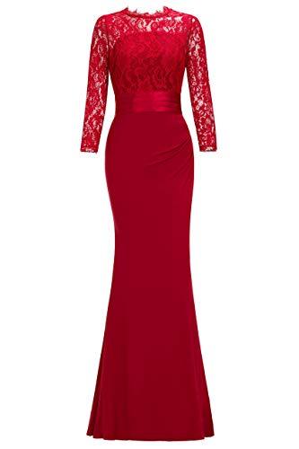 Babyonline® Damen Slim Kleider Einfarbig Bodycon Celebrity Party Ballkleider Enges Mermaid Abendkleider für Mutter Celebrity Abendkleid