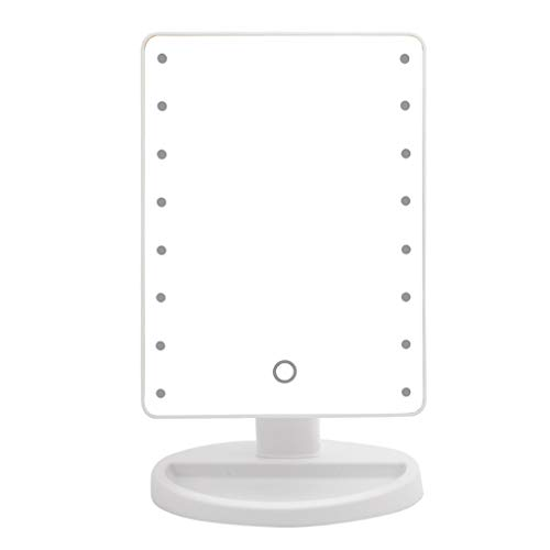 Espejo de Maquillaje con 16 Luces LED Espejo Cosmético de Escritorio Tecla Táctil Brillo Regulable...