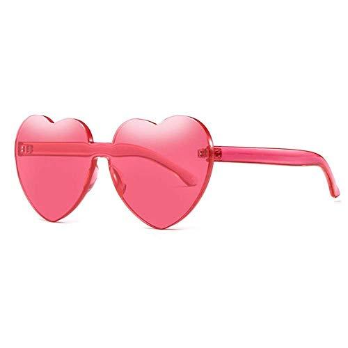 WYJW Sonnenbrillen Sonnenbrillen Lieben europäischen und amerikanischen rahmenlosen UV-Schutz für Frauen von Connecting Marine Film