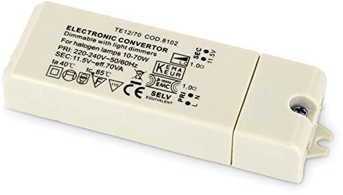dimmbarer Slim Transformador Electrónico para halógenos de bombilla-230V a 12V-10W de 70W