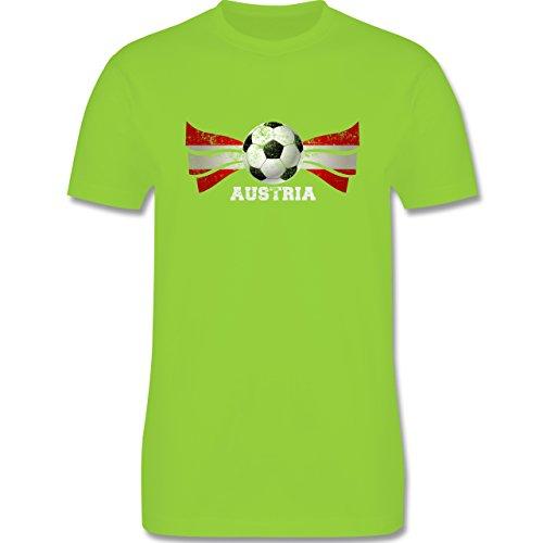 EM 2016 - Frankreich - Austria Fußball Vintage - Herren Premium T-Shirt Hellgrün
