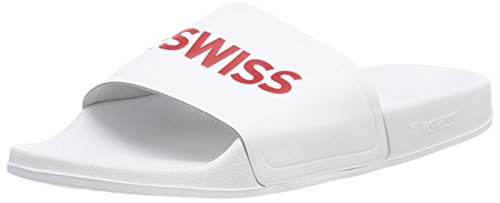 K-Swiss K75104, Borsa da Spiaggia Unisex - Adulto, Bianco (Bianco (White/Fiery Red 149)), 46 EU