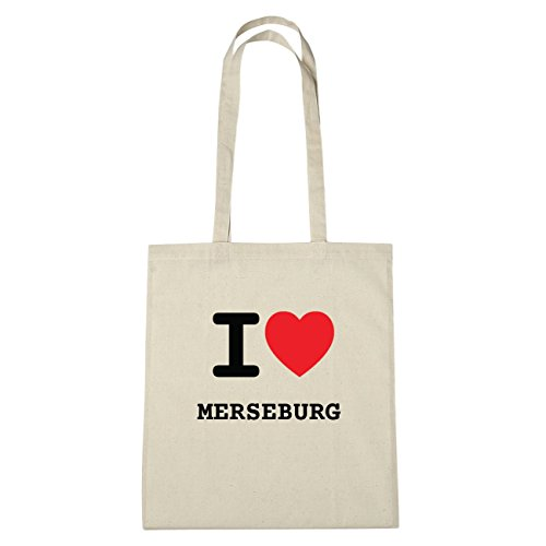 JOllify Merseburg di cotone felpato B1240 schwarz: New York, London, Paris, Tokyo natur: I love - Ich liebe