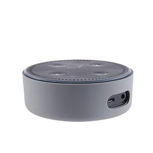 Colorful Für Echo Dot 2. Generation Hülle, Alexa Protective Case, Echo Dot Case, Amazon Echo Dot-Hülle,Silikon Schutzhülle für Amazon Echo Dot 2. (Grau)