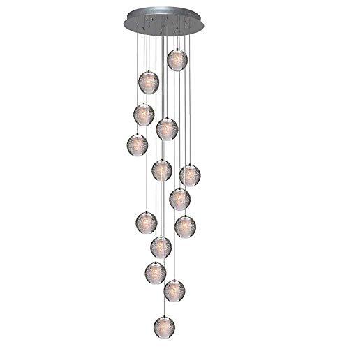 Unbekannt Pendelleuchte LED Moderne Pendellampe Kristall Hängeleuchte Höheverstellbar Kronleuchter geeignet für Wohzimmer Esstisch, Treppe, Schlafzimmer Deckenleuchte Hängelampe,14Lights