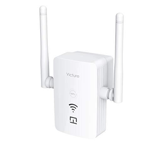 Victure Ripetitore WiFi Wireless 300Mbps con Porta USB,WiFi Extender e Access Port,2.4GHz Dual Antenna WiFi Amplificatore di Segnale per Smart Home