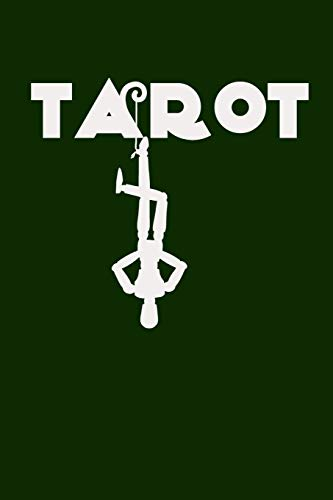 Tarot: Tarot Silhouette on Green Background, Three Card Spread Tarot Journal ,A Daily Record Your Readings Diary -