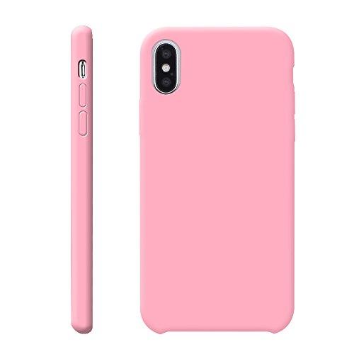 iProtect TPU Schutzhülle Apple iPhone X Softcase Silikon Rosa TPU Softcase Silikon Rosa
