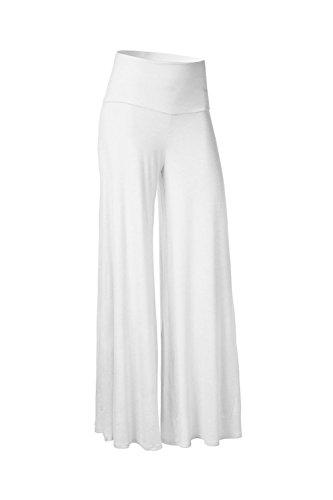 Les femmes plus large jambe sport yoga pant Pantalons white