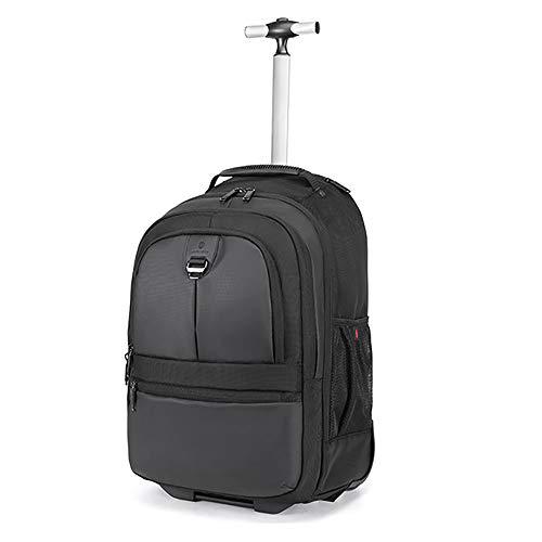 Laptop-Rucksack, Rollrucksack mit Rädern für Frauen Männer 20-Zoll-Schule College Wheeled Laptop Book Bag Geschäftsreisen -