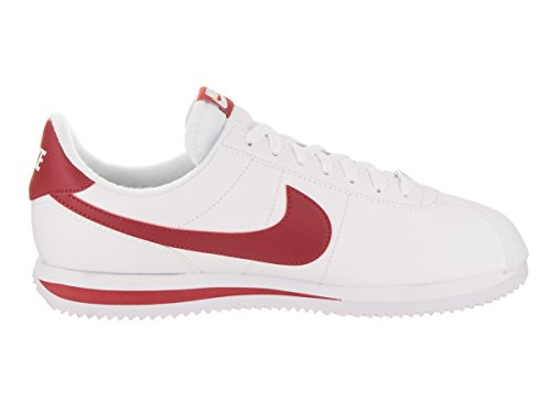 Nike Mens Cortez Basic Leather Leather Trainers White Gym Red