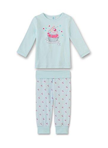 Sanetta Baby-Mädchen Zweiteiliger Schlafanzug 221319, Blau (Light 50227), 98 (98)