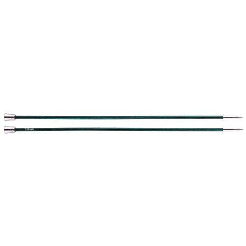 KnitPro Stricknadeln Royale Single Ended, Birchwood/Messing, Mehrfarbig, 30cm x 3,50mm (Single Crochet-muster)