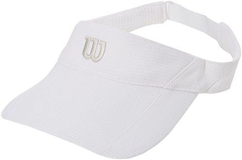 Wilson Herren Kappe Rush Knit Visor Ultralight WH, White, OSFA, 0097512138284 (Wilson Visor)