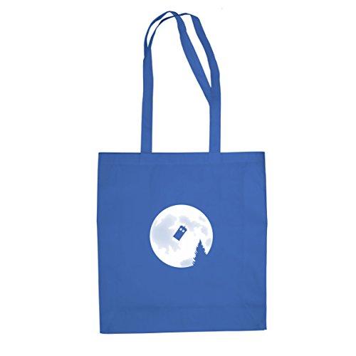 Full Moon Police Box - Stofftasche / Beutel Blau